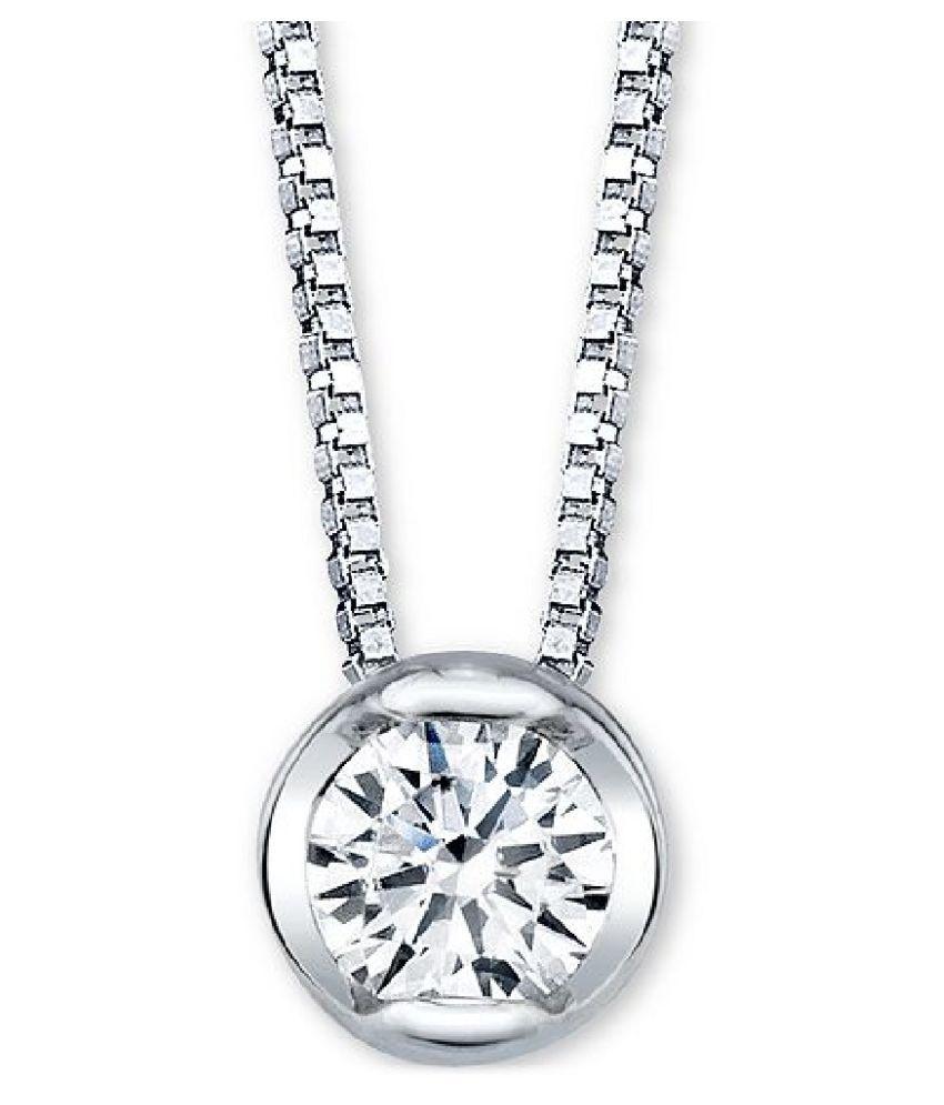 5.5 Ratti Zircon original & lab certified silver Pendant for astrological purpose by Ratan Bazaar\n