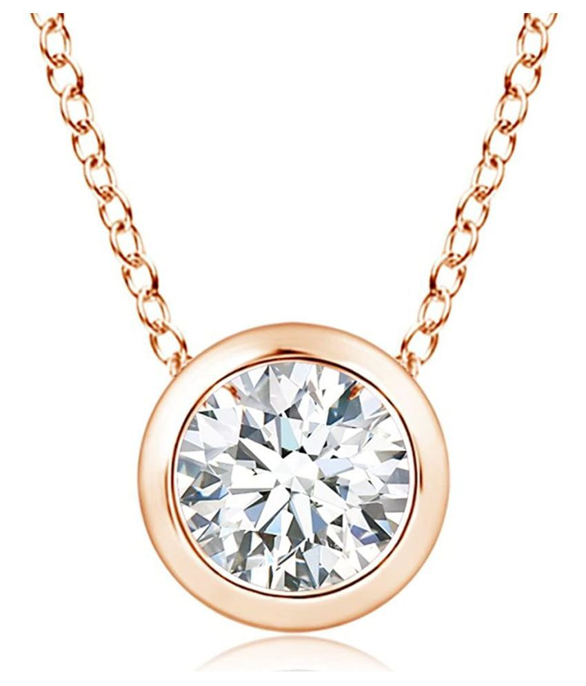 6 Ratti Zircon  original & lab certified Gold Plated Pendant for astrological purpose by Ratan Bazaar\n