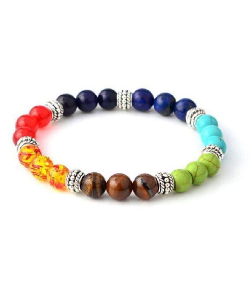 7 Chakra Healing Balance Beaded Bracelet Natural Stone Yoga Reiki Prayer D1