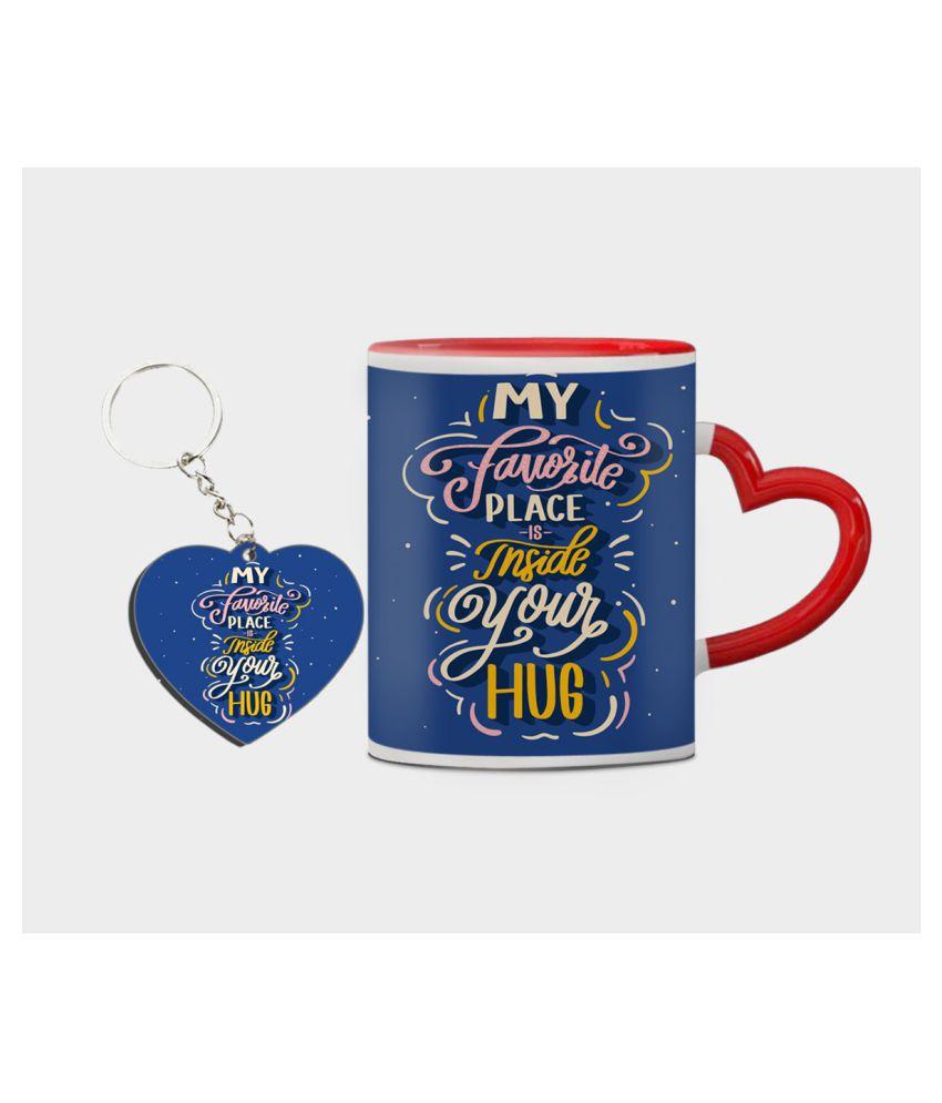 Festa Ceramic Valentine Mugs Red - Pack of 2