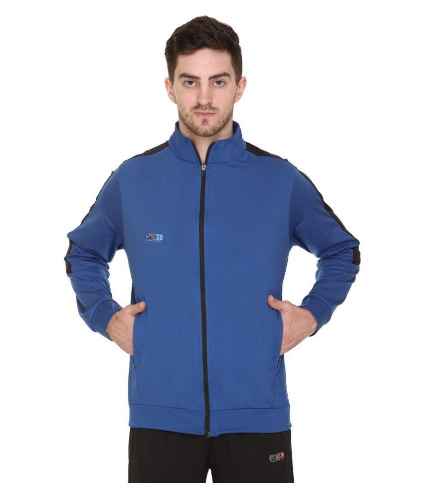 GYMZO Blue Polyester Sweatshirt Single Pack