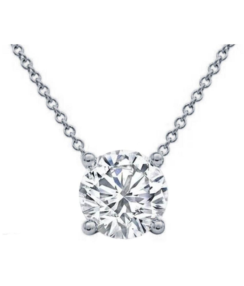 pure 9.25 Ratti Zircon   Silver Pendant for unisex by  Ratan Bazaar\n