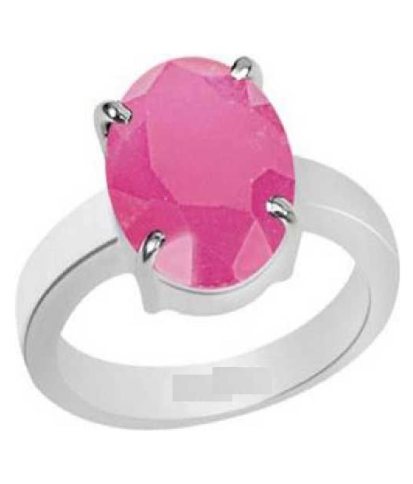 5.25 carat pure  PINK SAPPHIRE  Silver RING(ANGUTHI) by RATAN BAZAAR \n