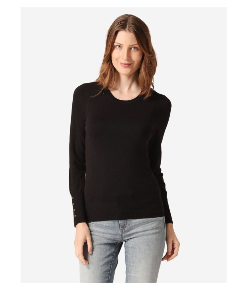 Mode By Red Tape Viscose Black Pullovers