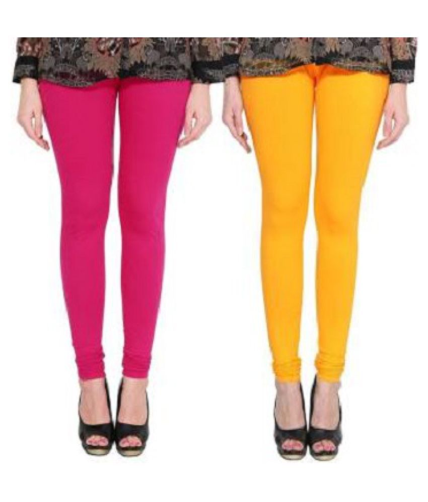 SK Creation Cotton Lycra Jeggings - Multi Color