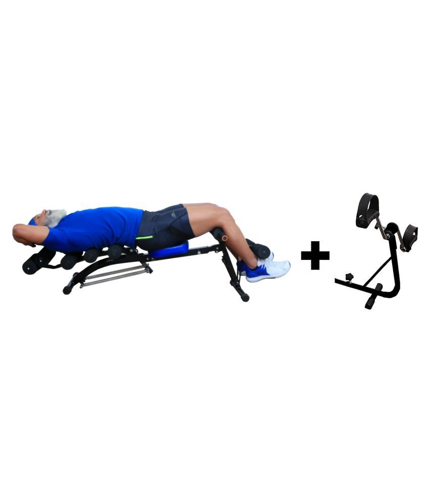Six Pack Abdominal Care Exerciser,Ab Rocket Twister Ab Cruncher Machine Home Gym with Cycle and Resistance Band