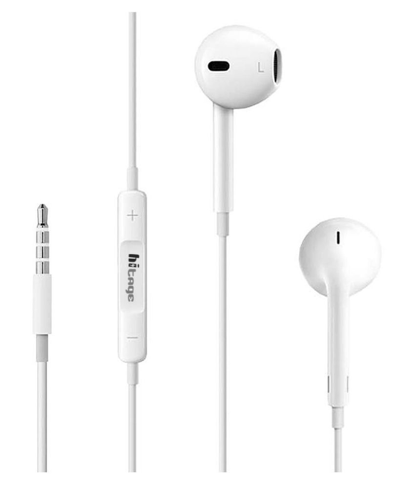 hitage na Ear Buds Wired With Mic Headphones/Earphones