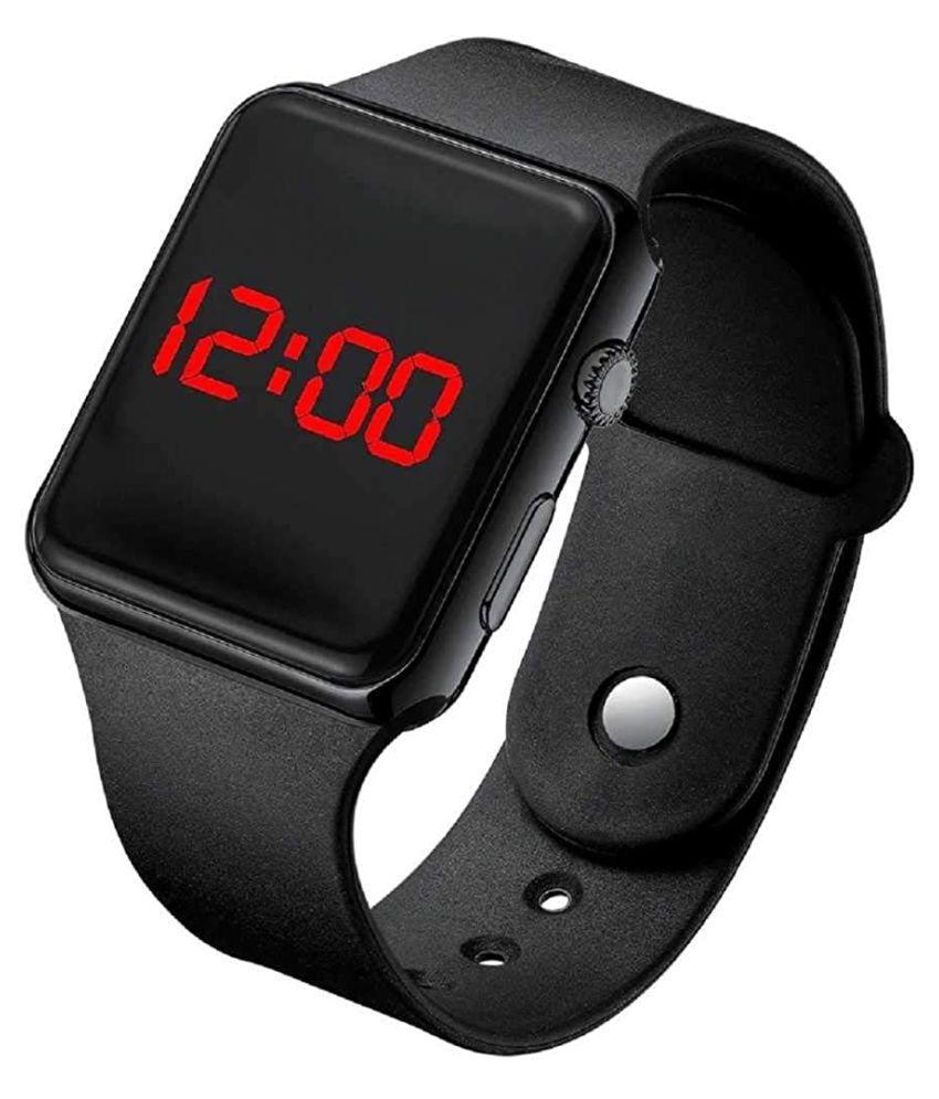 Endeavour New APLE_SQURE_LED Digital Silicon Digital Men's Watch