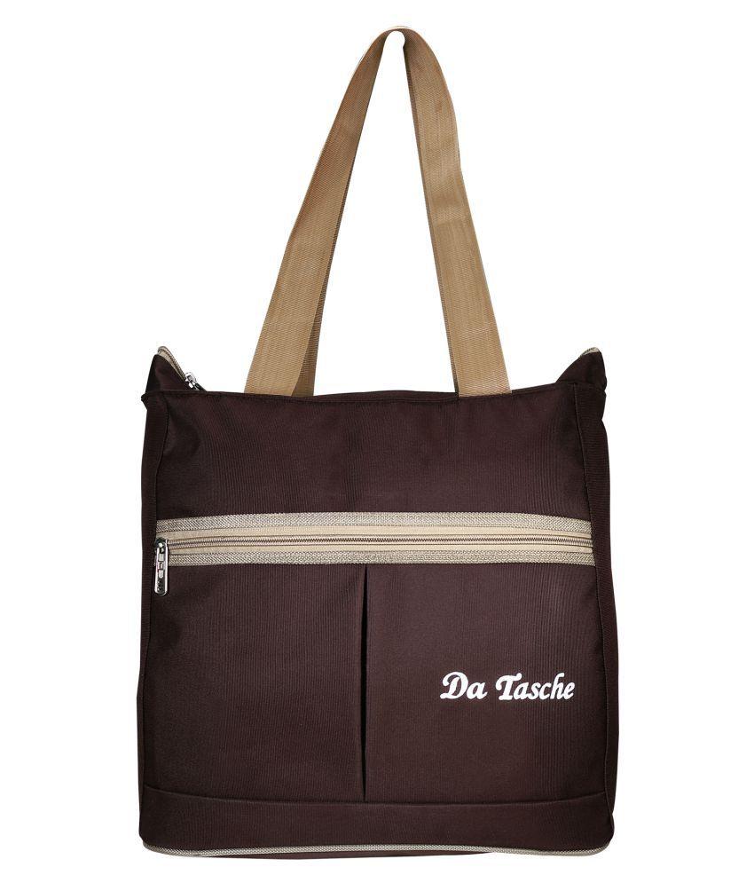 Da Tasche Brown Polyster Shoulder Bag
