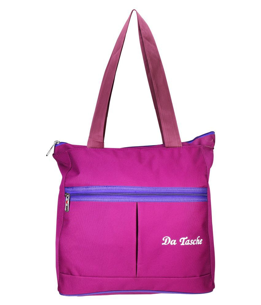 Da Tasche Pink Polyster Shoulder Bag