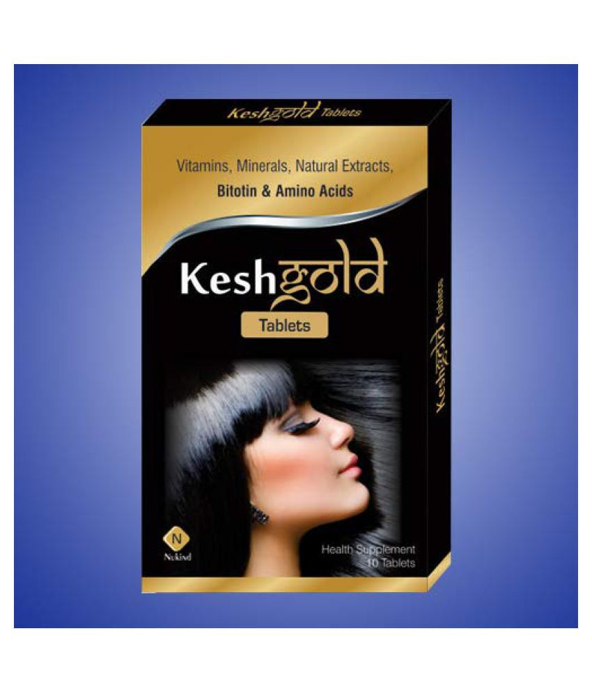 Nukind -Kesh Gold Tablets with Biotin, Amino Acid, Vitamins and Natural Extracts Formula for Healthy Hair and Grow hair and natural .  for Man and Women and Children
