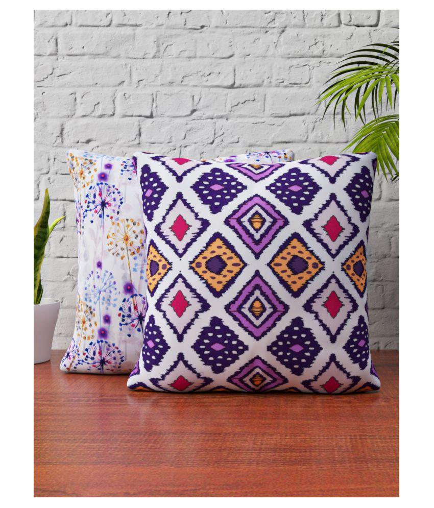 SHIVANAA HOMES Set of 2 Blends Cushion Covers 40X40 cm (16X16)