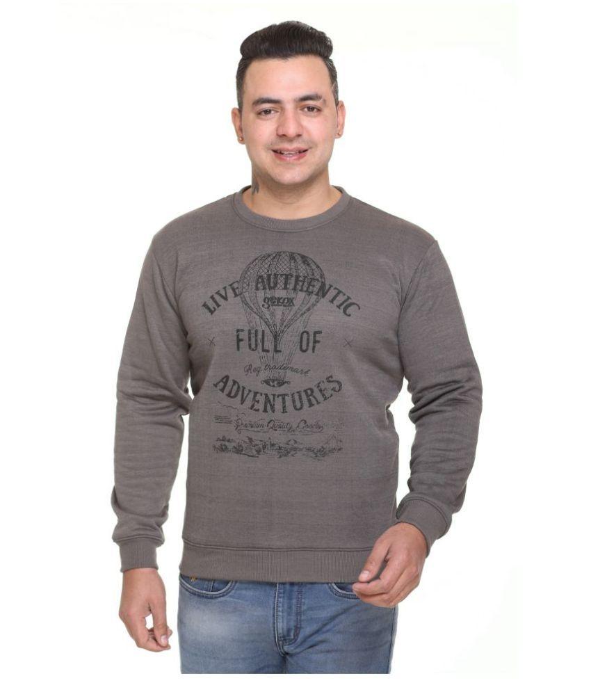 TOPLUCK Grey Sweatshirt