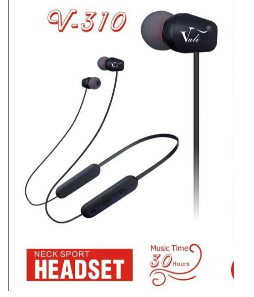 Woos vali v  310 music headset Neckband Wireless With Mic Headphones/Earphones