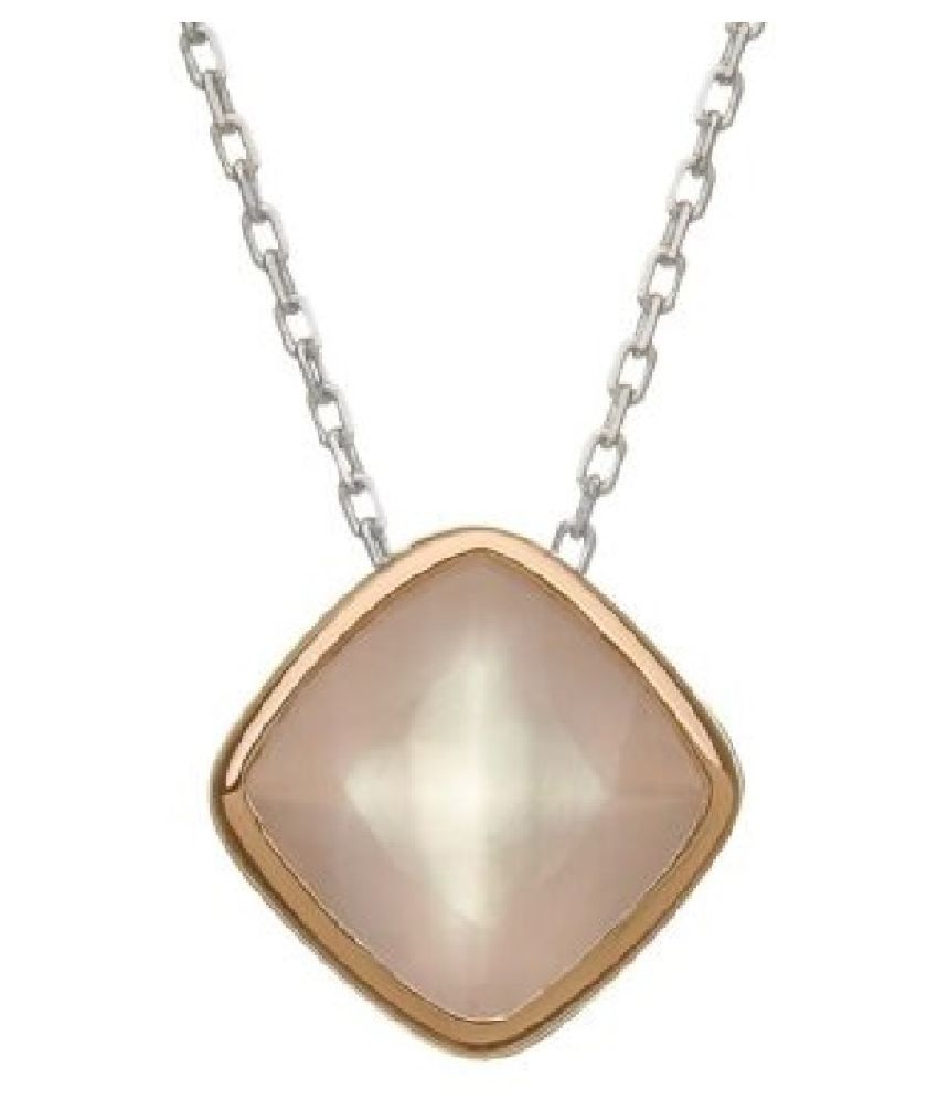 6.25 carat Natural Gold Plated Rose quartz Pendant by  Ratan Bazaar \n