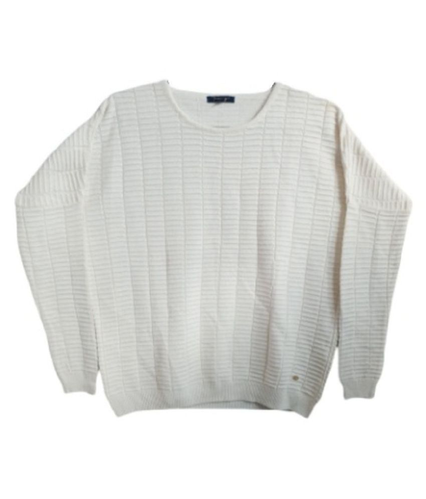 Dlogic Pure Wool White Pullovers