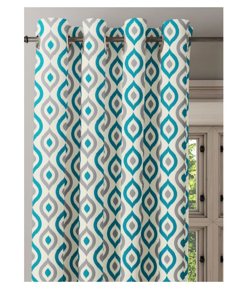 Ixora Decor Single Door Semi-Transparent Eyelet Cotton Curtains Multi Color