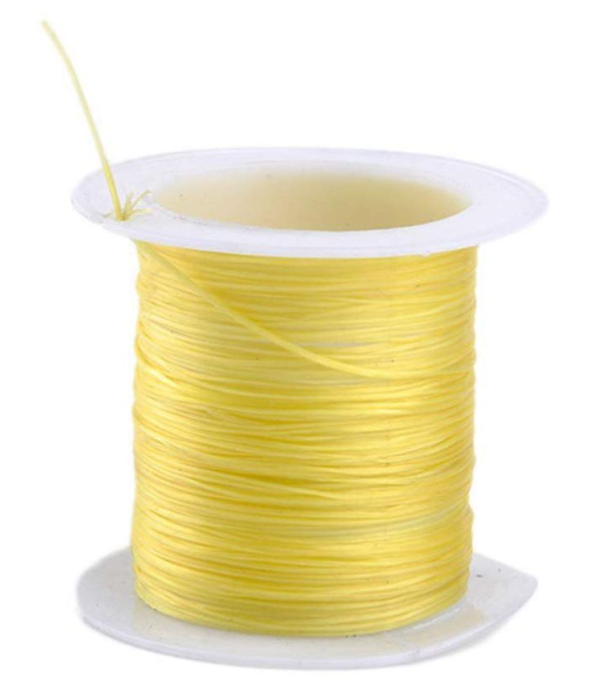 .8mm Yellow Elastic Cord Thread for Jewelry and Bracelet Making