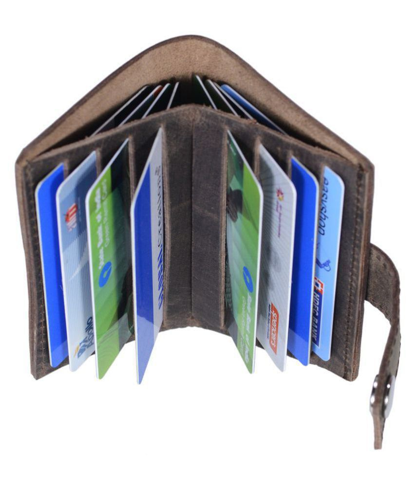 Bi-Fold Brown Card Holder Card Holders