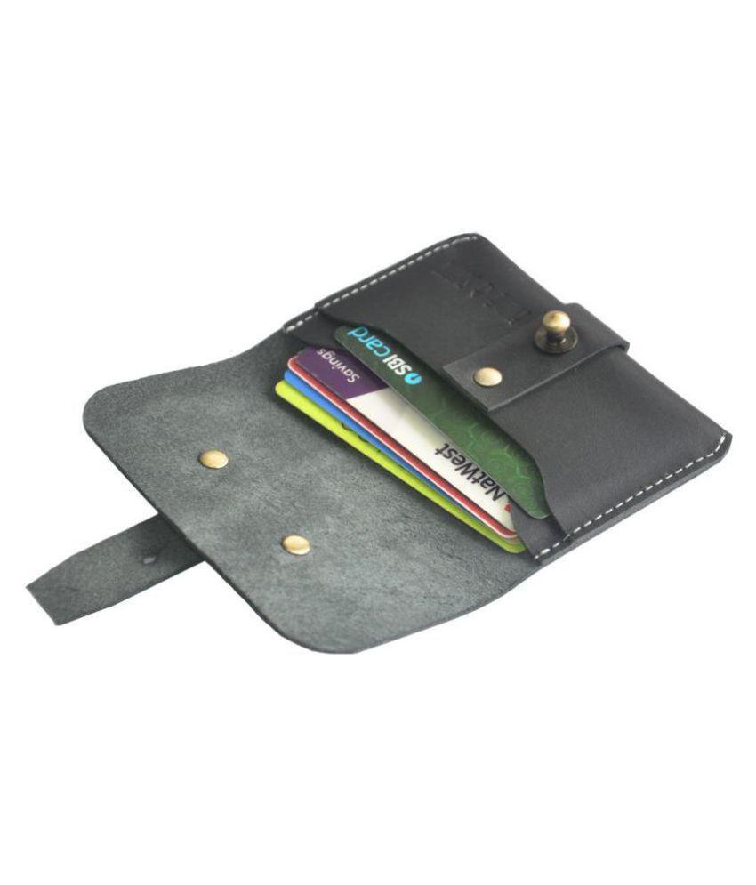 Hide&Sleek Flap Black Card Holder