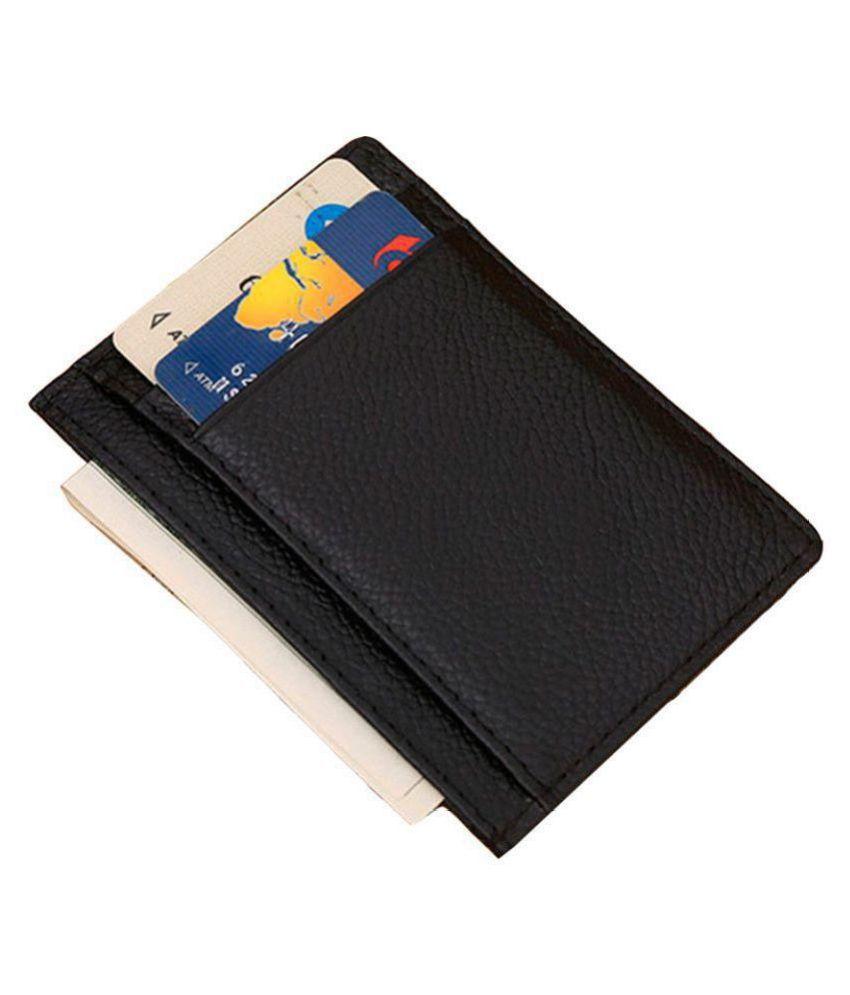 Hide&Sleek Open Black Card Holder