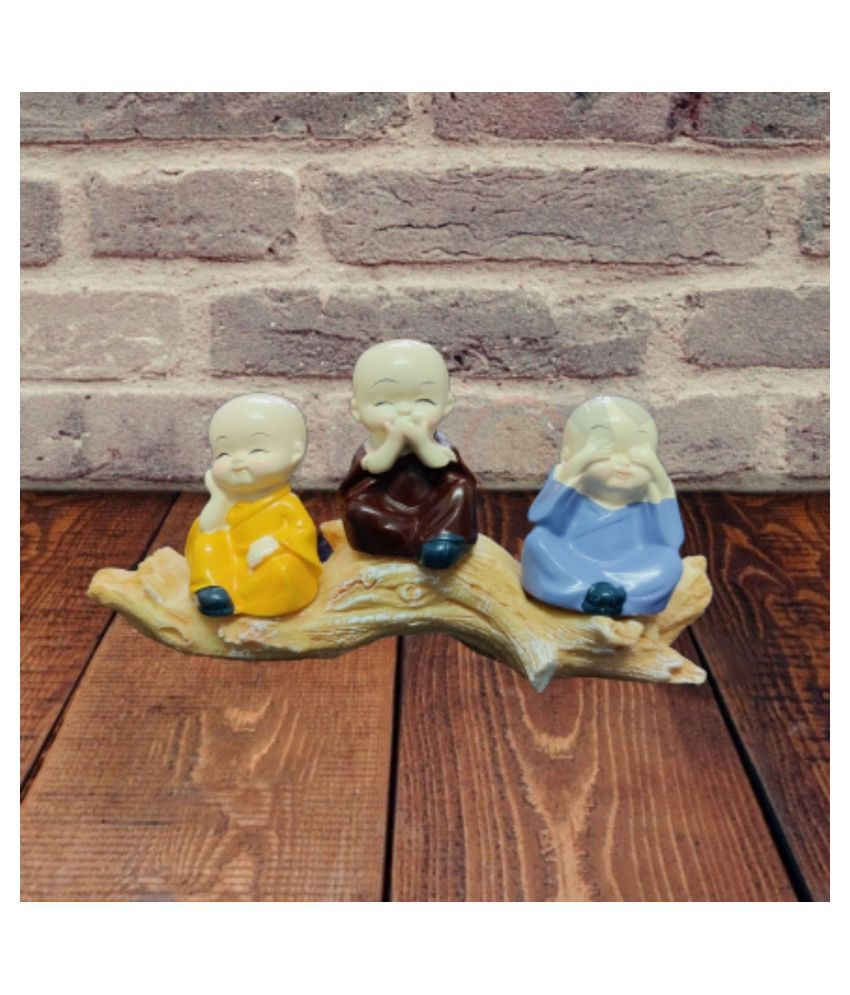 FRUGLOW Buddha Resin Buddha Idol 9 x 17 cms Pack of 1