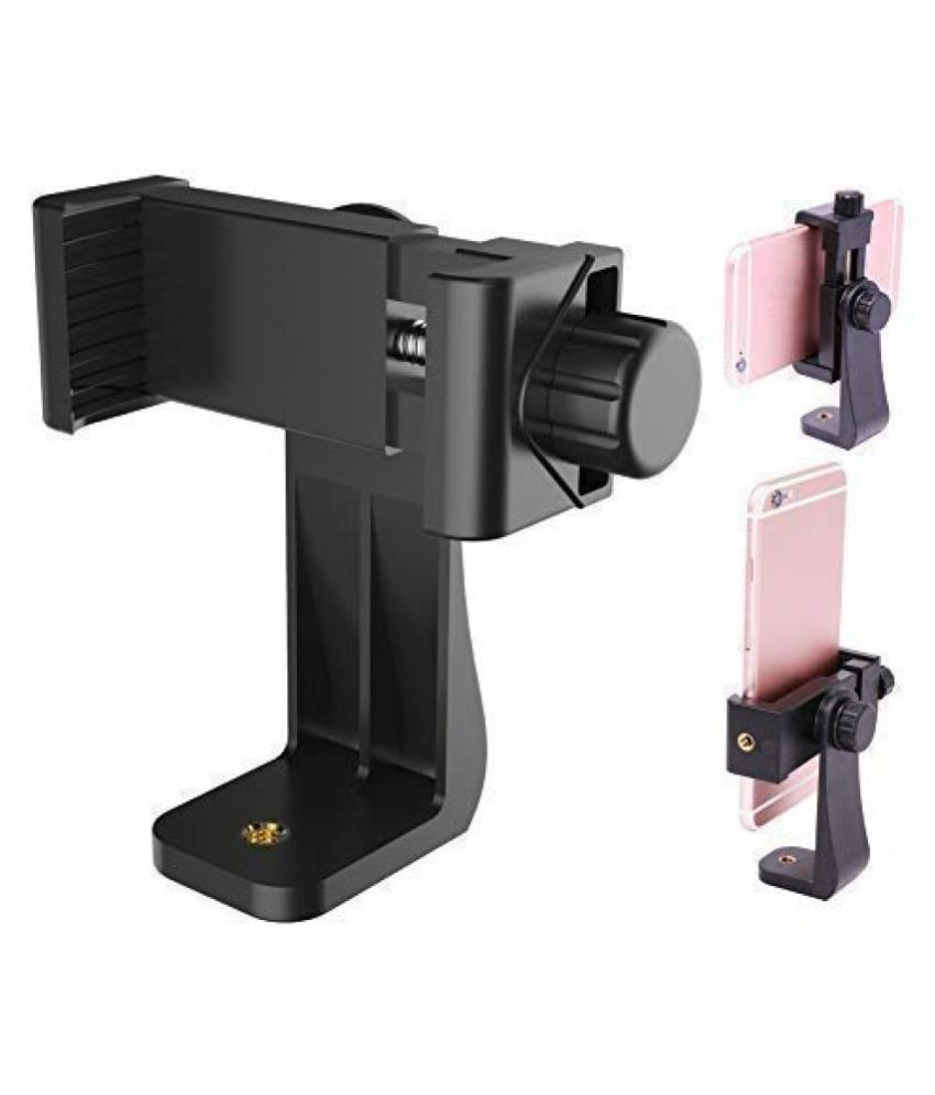ROYAAL Universal Tri pod Mount Adapter Clip with Adjustable Clamp for Mobile Phone, Smartphones  amp; All Types of Trip ods  Black
