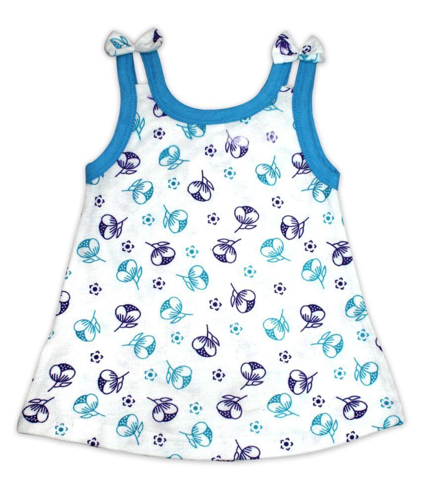 New Born Baby Multi-Color Sleeveless Cotton Dress for Girls Mini/Short Casual Dress