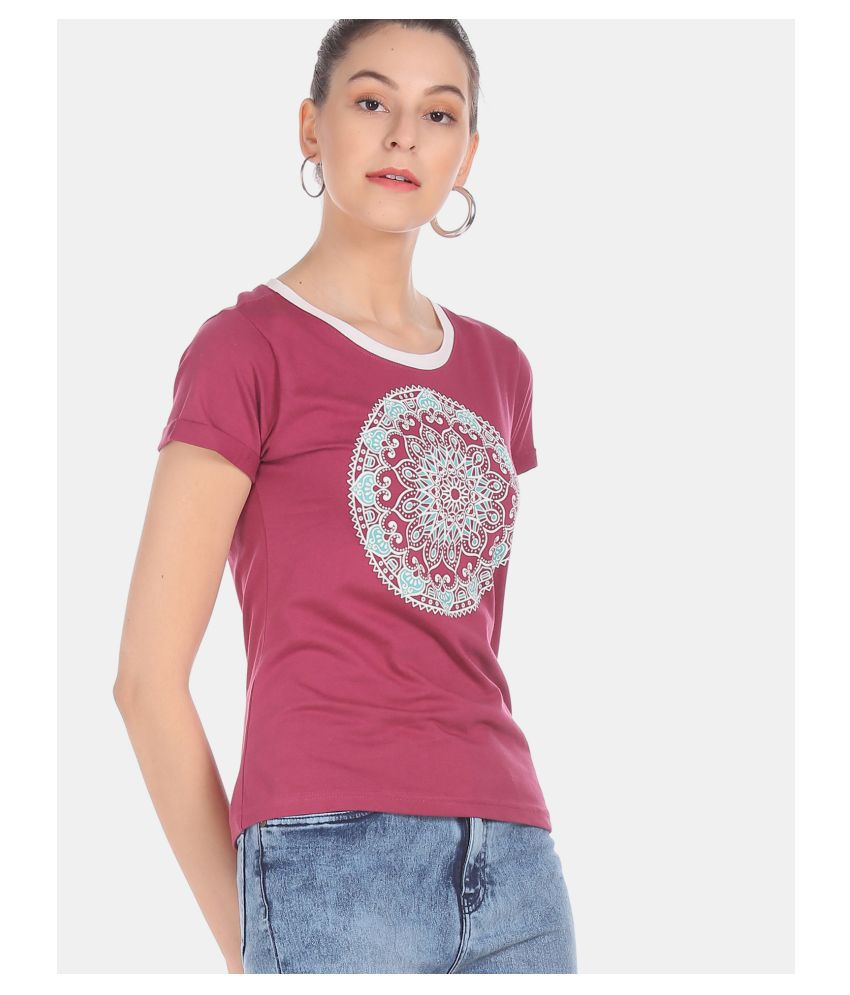 Sugr Cotton Purple T-Shirts