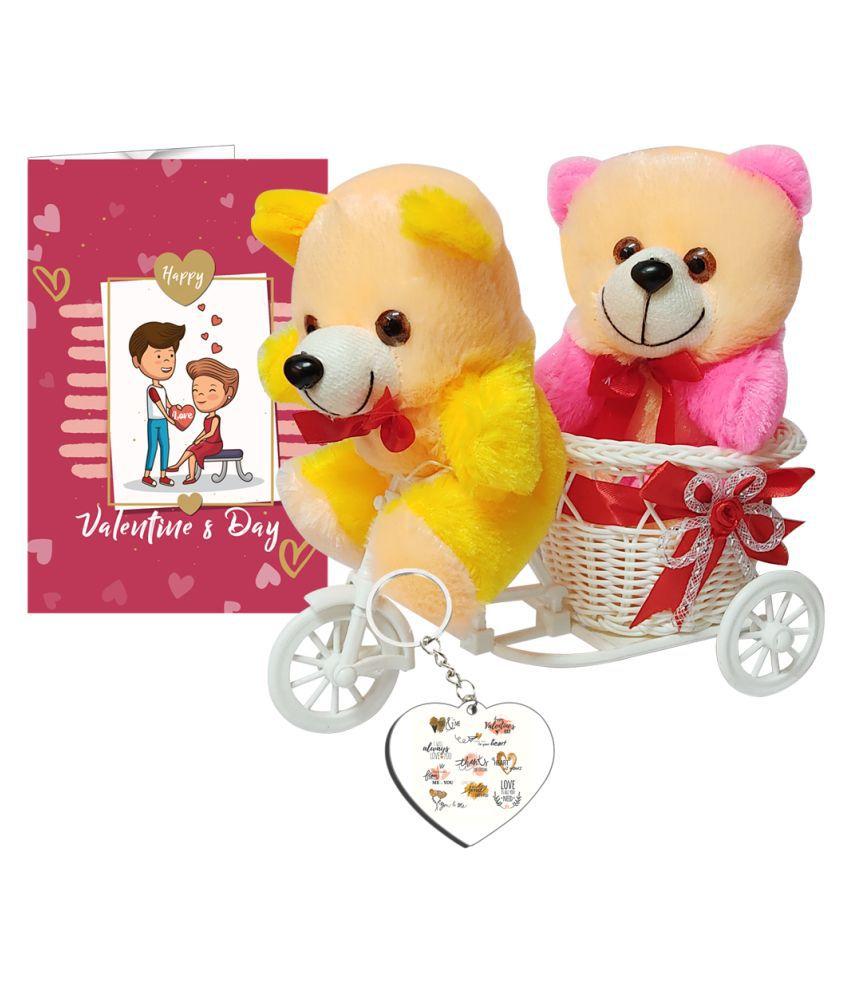 Festa Plastic Valentine Hamper White - Pack of 5