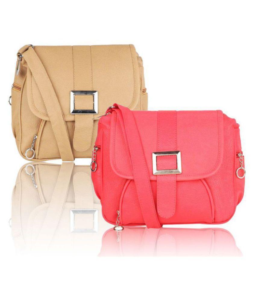 Parrk Pink P.U. Sling Bag