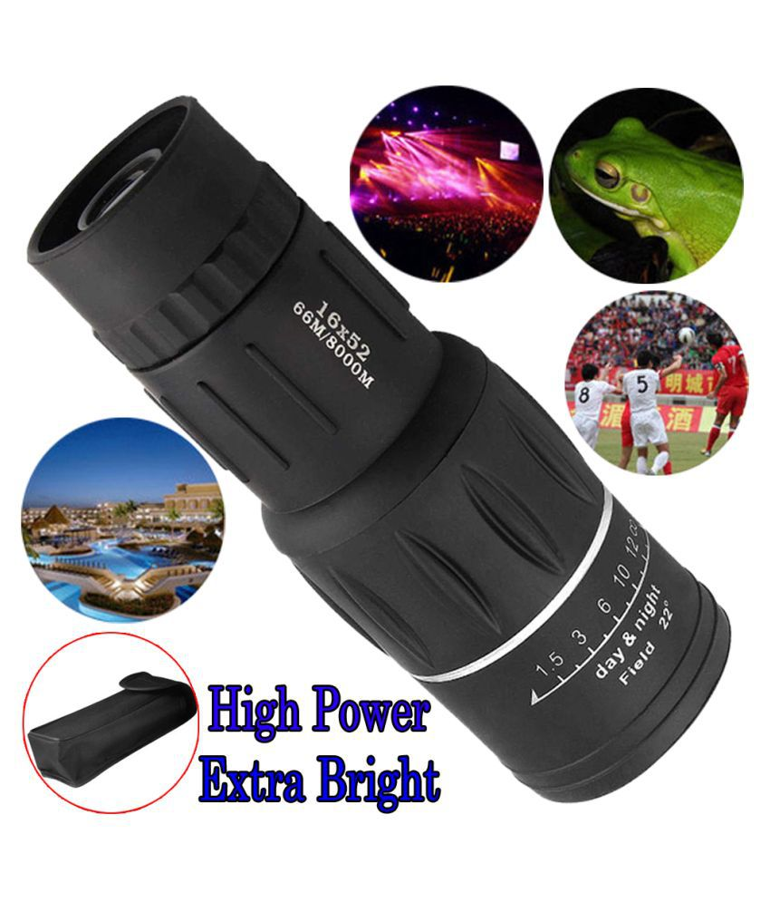 Telescope 16X52 High Powered Monocular Scopes Dual Focus Optics binoculars
