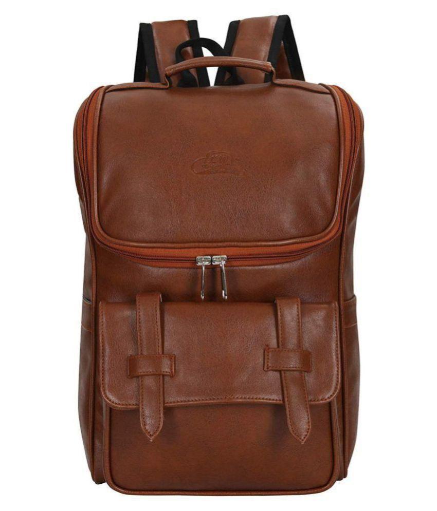 Leather Gifts Tan P.U. College Bag