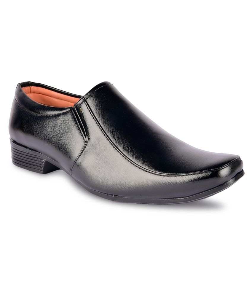 Onhit Artificial Leather Black Formal Shoes