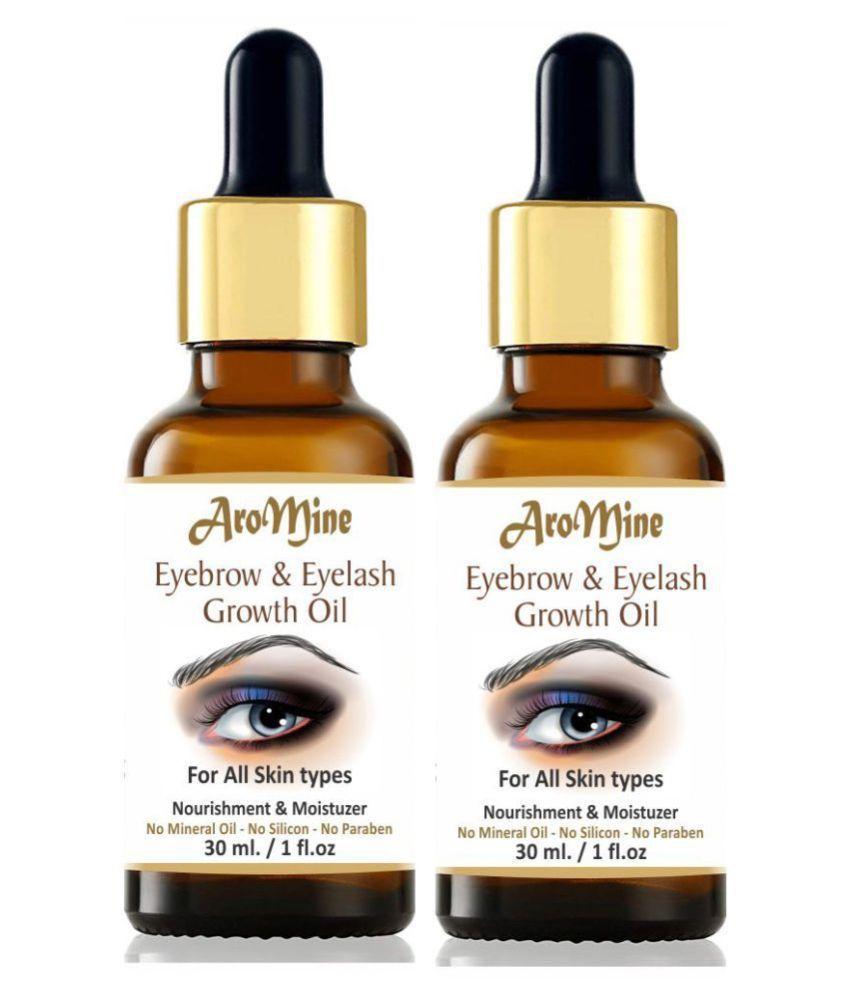 Aromine Eyebrow & Eyelash Growth Oil For Women 60 mL Pack of 2