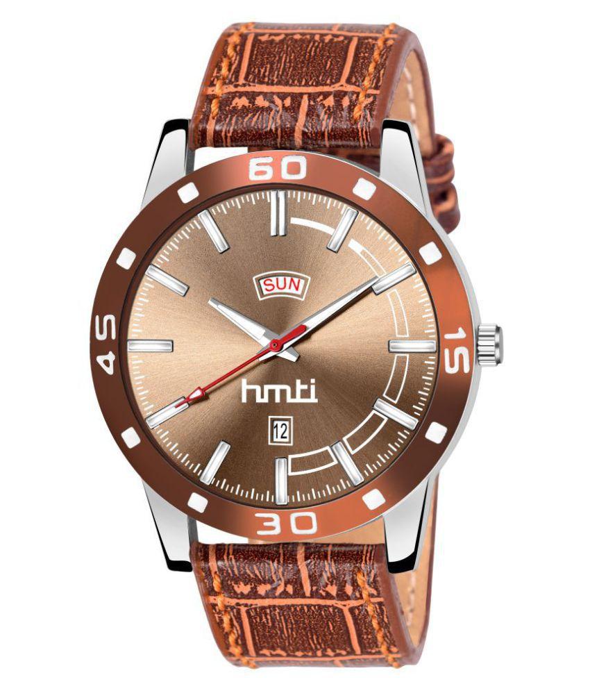 HMTI HMTI8089 Leather Analog Men's Watch