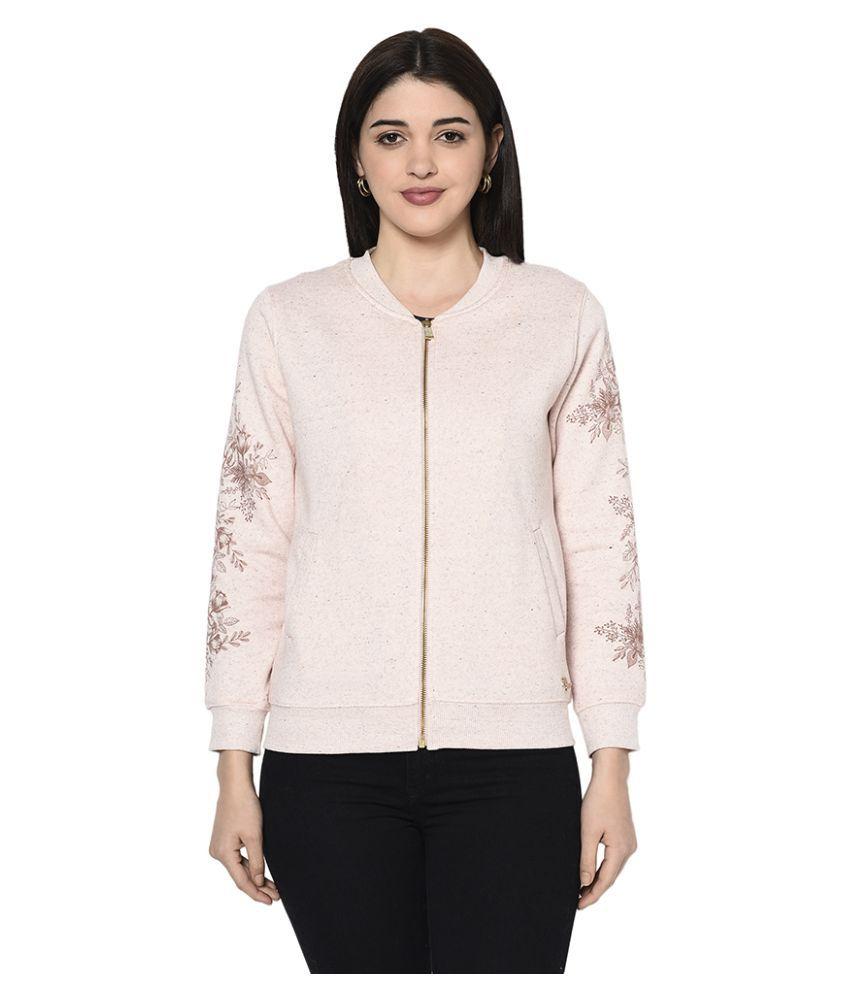 Miss Grace Cotton Pink Zippered Sweatshirt