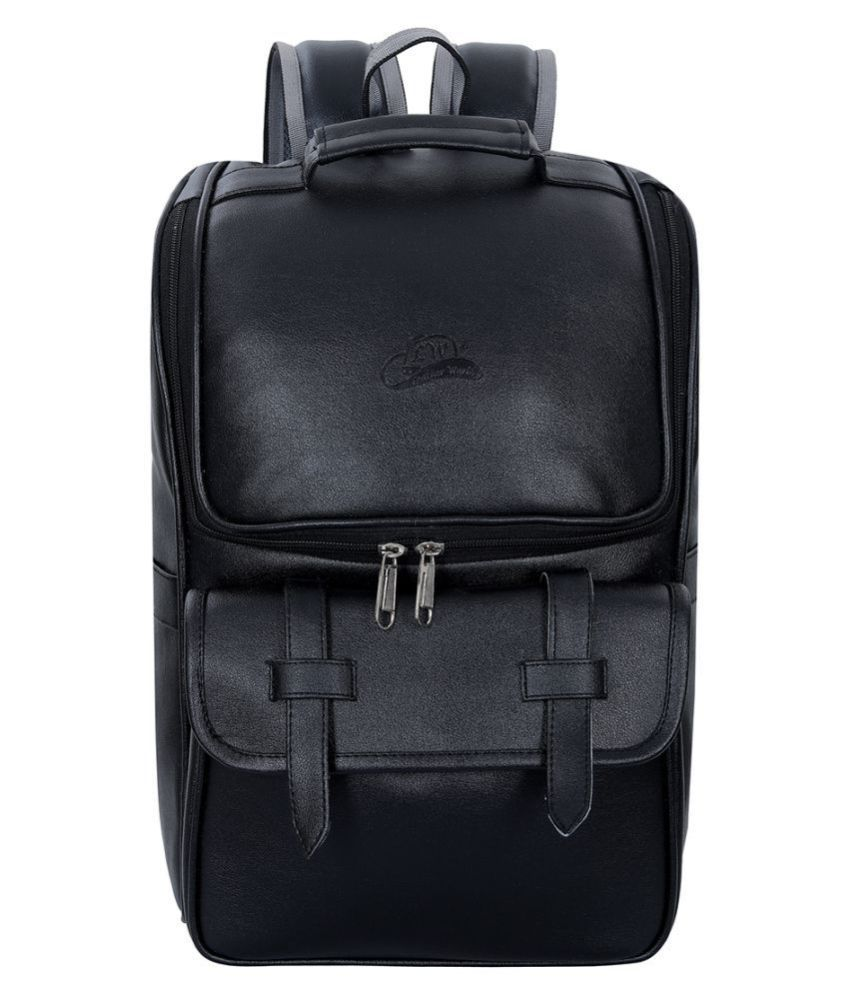 Leather Gifts Black Leather College Bag