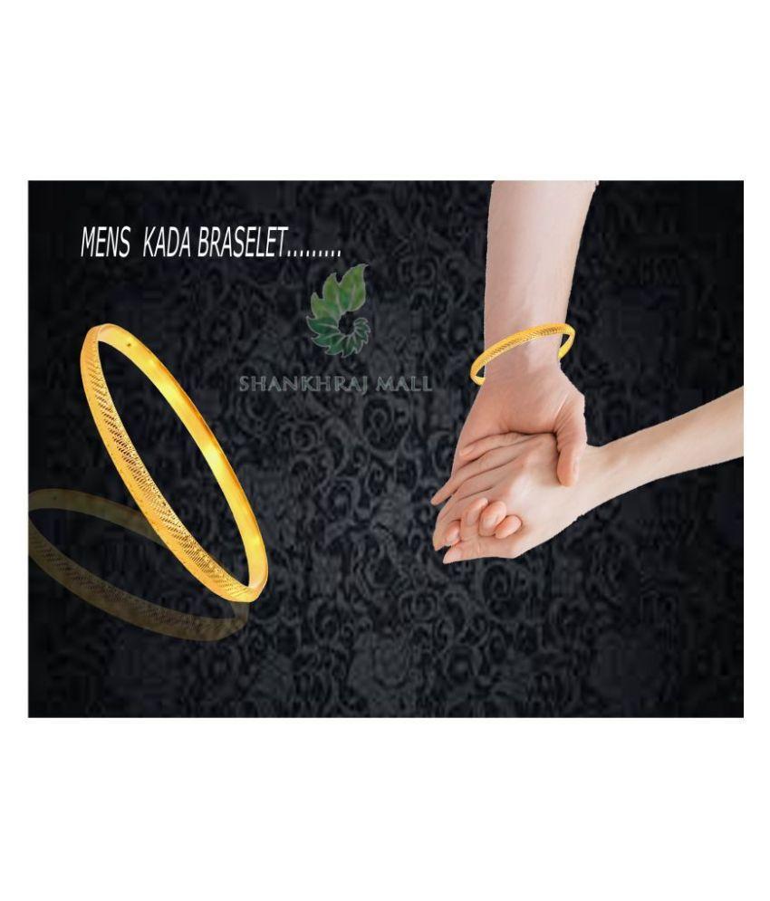 SHANKHRAJ MALL NEW DESIGN GOLD PLATED SIKH KADA FOR MEN  OR BOY-100111