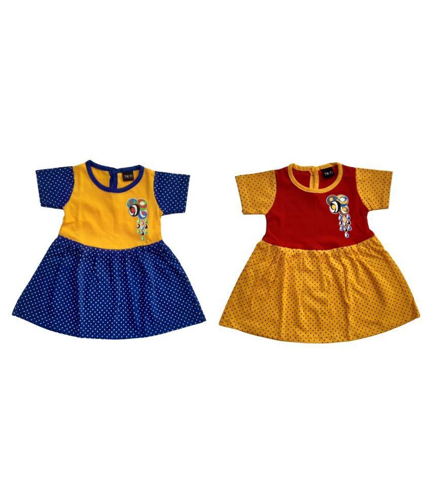 Triti fashion Baby Girls Frock Dress.
