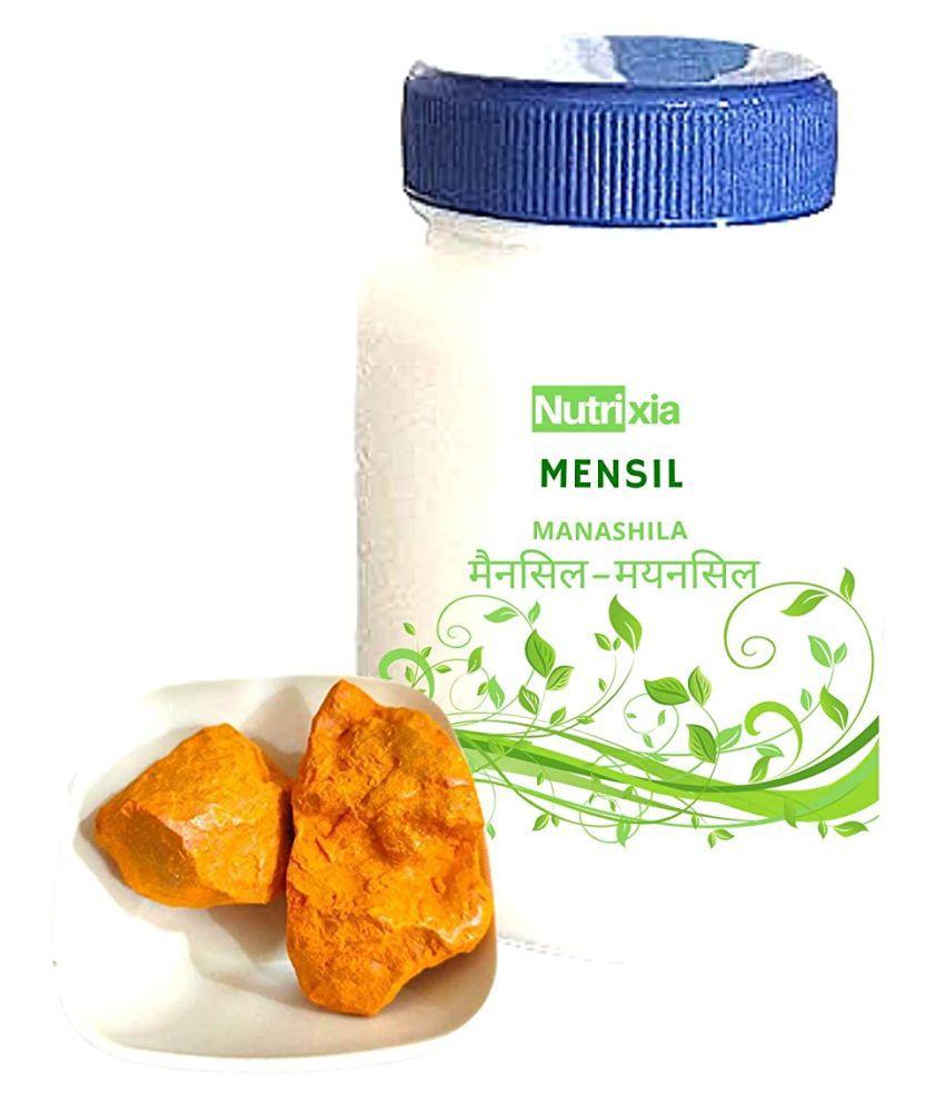 Nutrixia Food Mensil -Menshil -Manashila --मैनसिल Raw Herbs 50 gm Pack Of 1