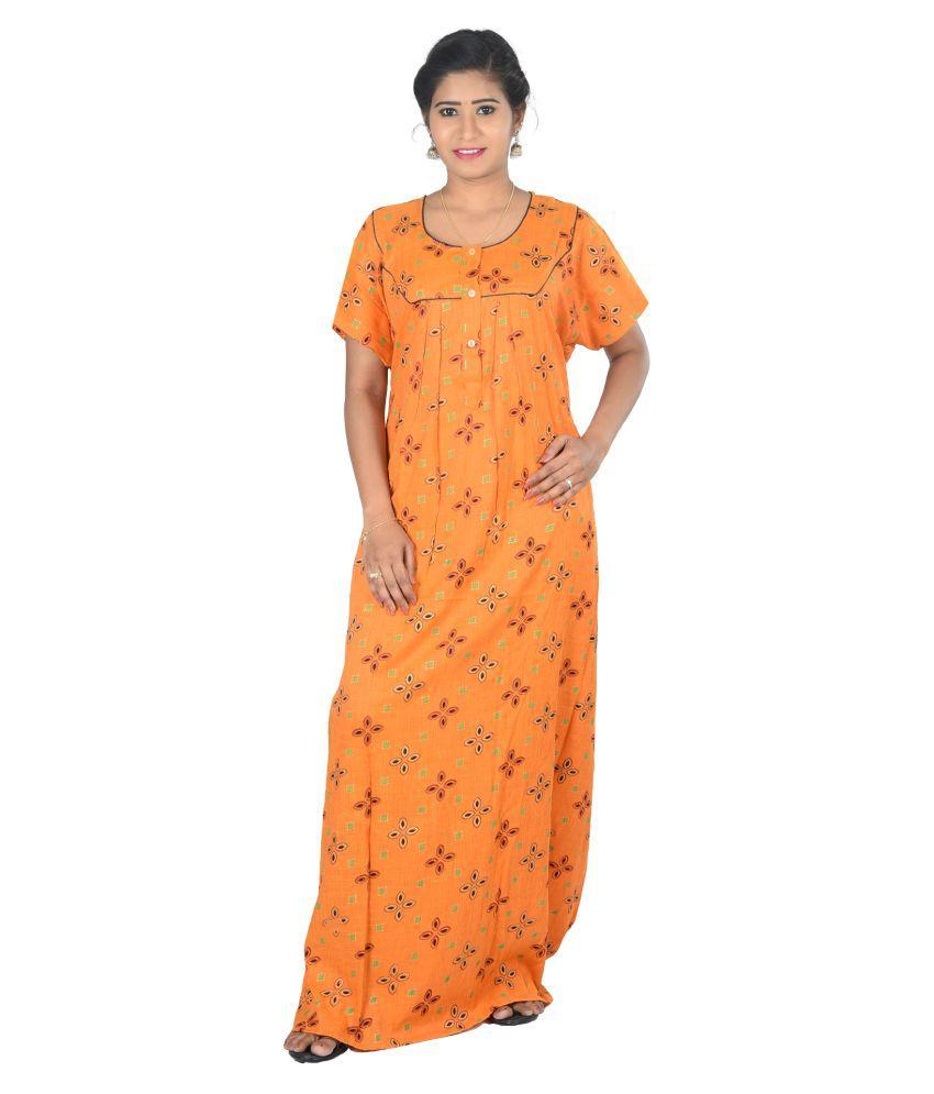 OSF Rayon Nighty & Night Gowns - Orange