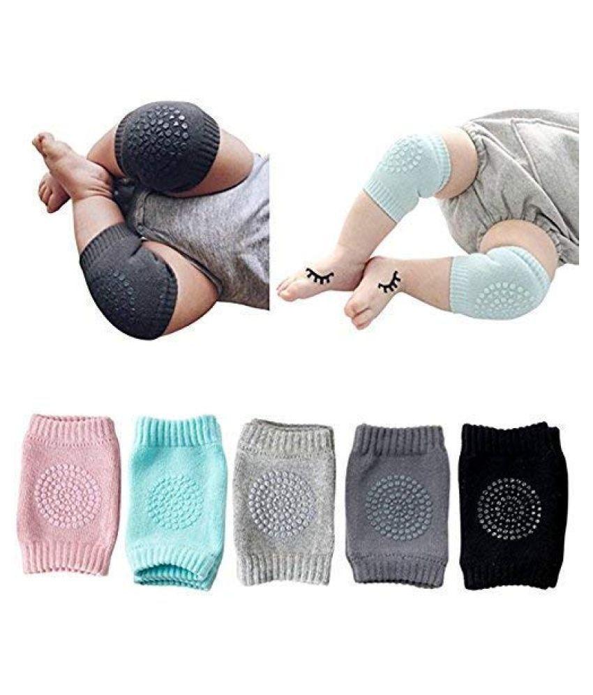 PD Multi-Colour Coton Baby Knee Pad 2 pcs