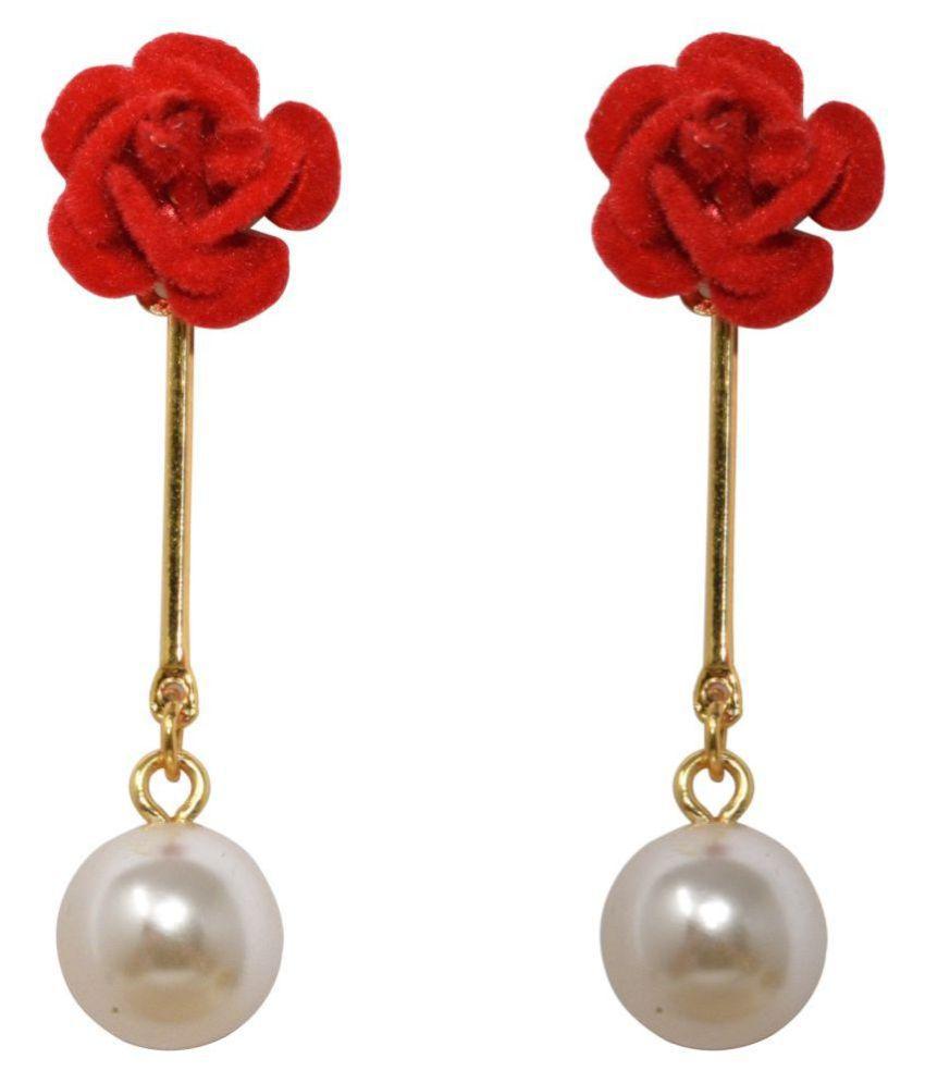 Jaishree jewels Amazing Golden String Rose Earrings for Women and Girls