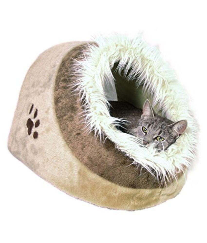 Trixie TRIXIE Pet Products Minou Cuddly Cawe Dog/Cat Bed, Beige, 558 Gram