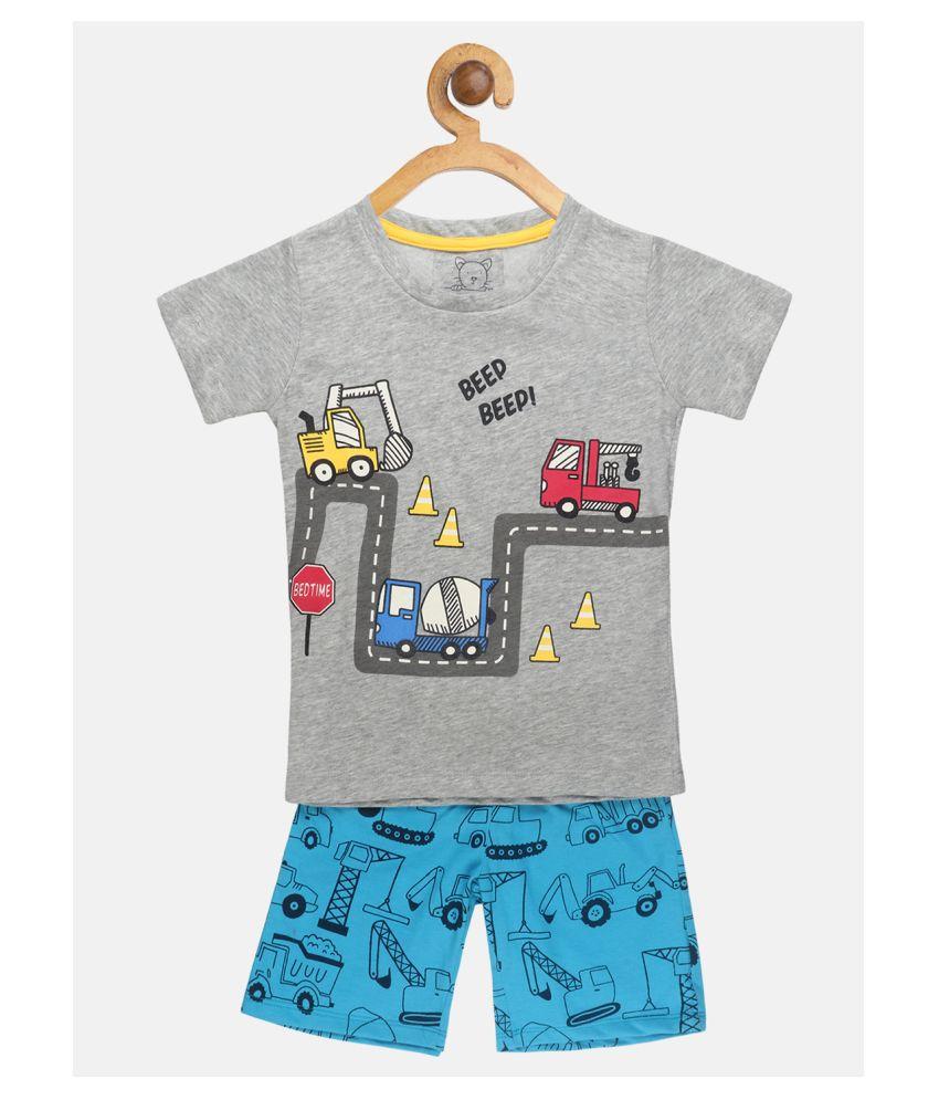 Lazy Shark Boys  Tshirt & Shorts Set