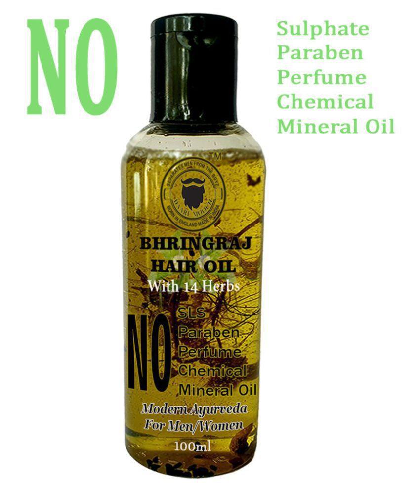 DAARIMOOCH Bhringraj Hair Oil for Growth & Hair Fall Control for Men & Women 100 mL Fliptop Glass Container