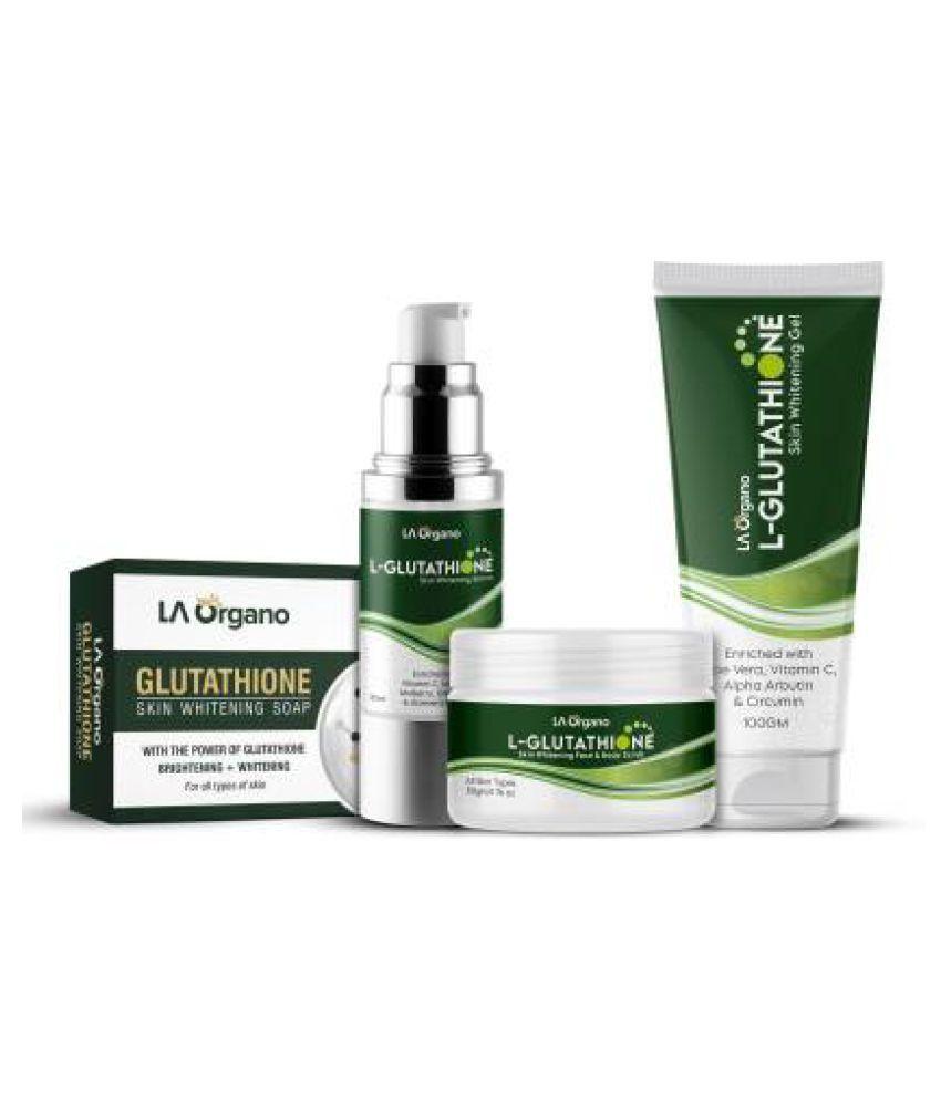 LA ORGANO L-Glutathione Serum Scrub Gel Soap Facial Kit g Pack of 4