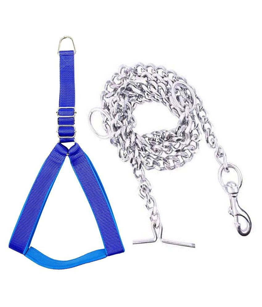 Smart Doggie Chest Belt And Iron Chain For Your Pet Cat (0.75) inches