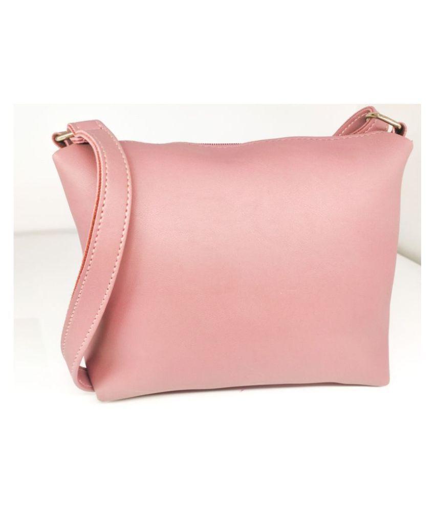 TEENKRAFT Peach P.U. Sling Bag